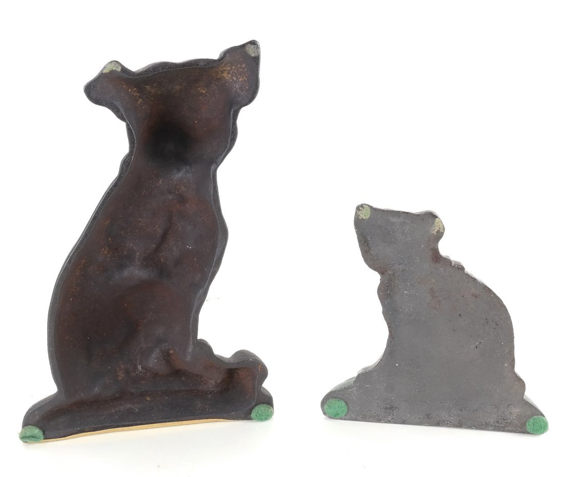 Two Cast Iron Dog Doorstops - 3