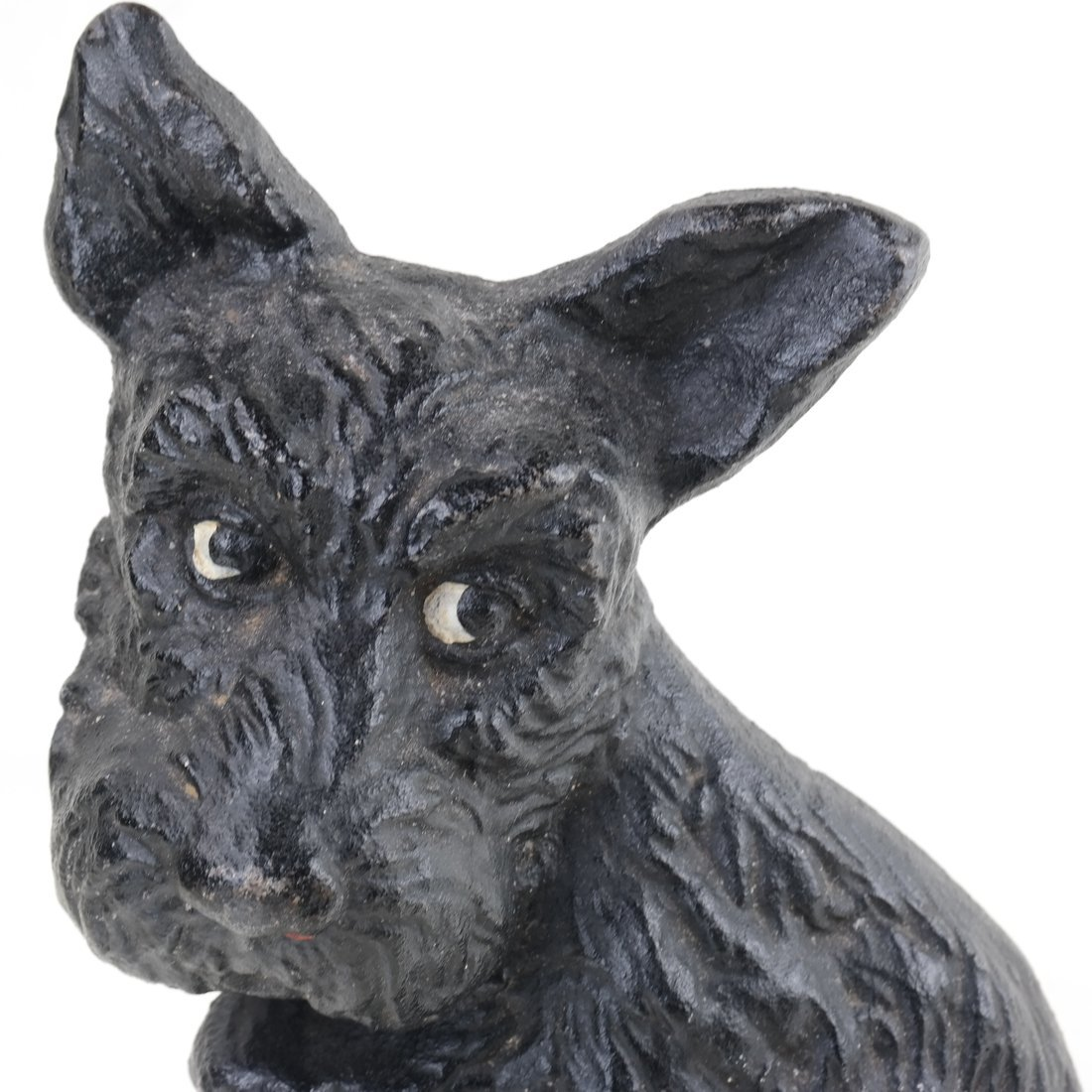 Two Painted Cast Iron Seated Dogs - 10