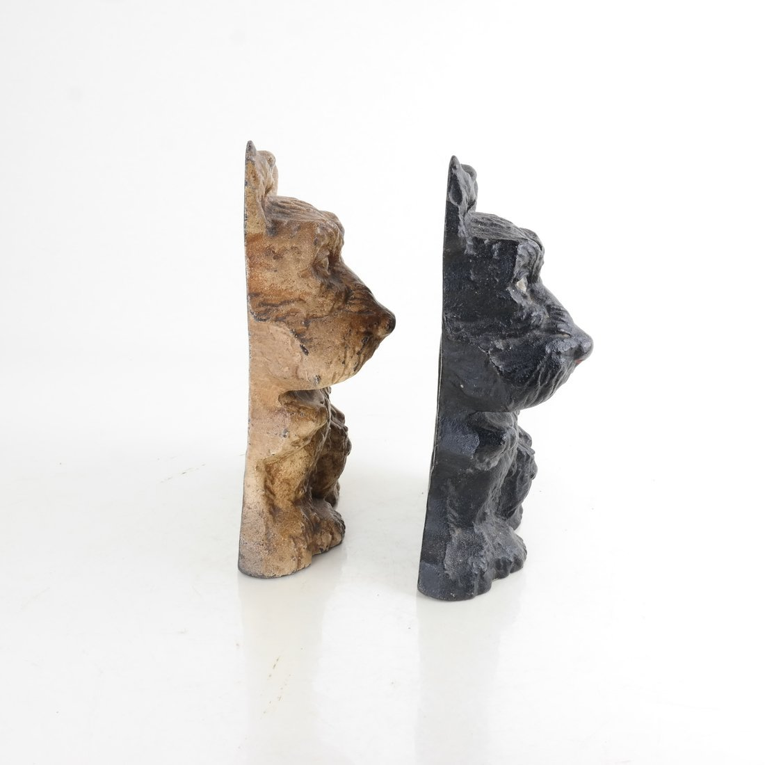 Two Painted Cast Iron Seated Dogs - 4