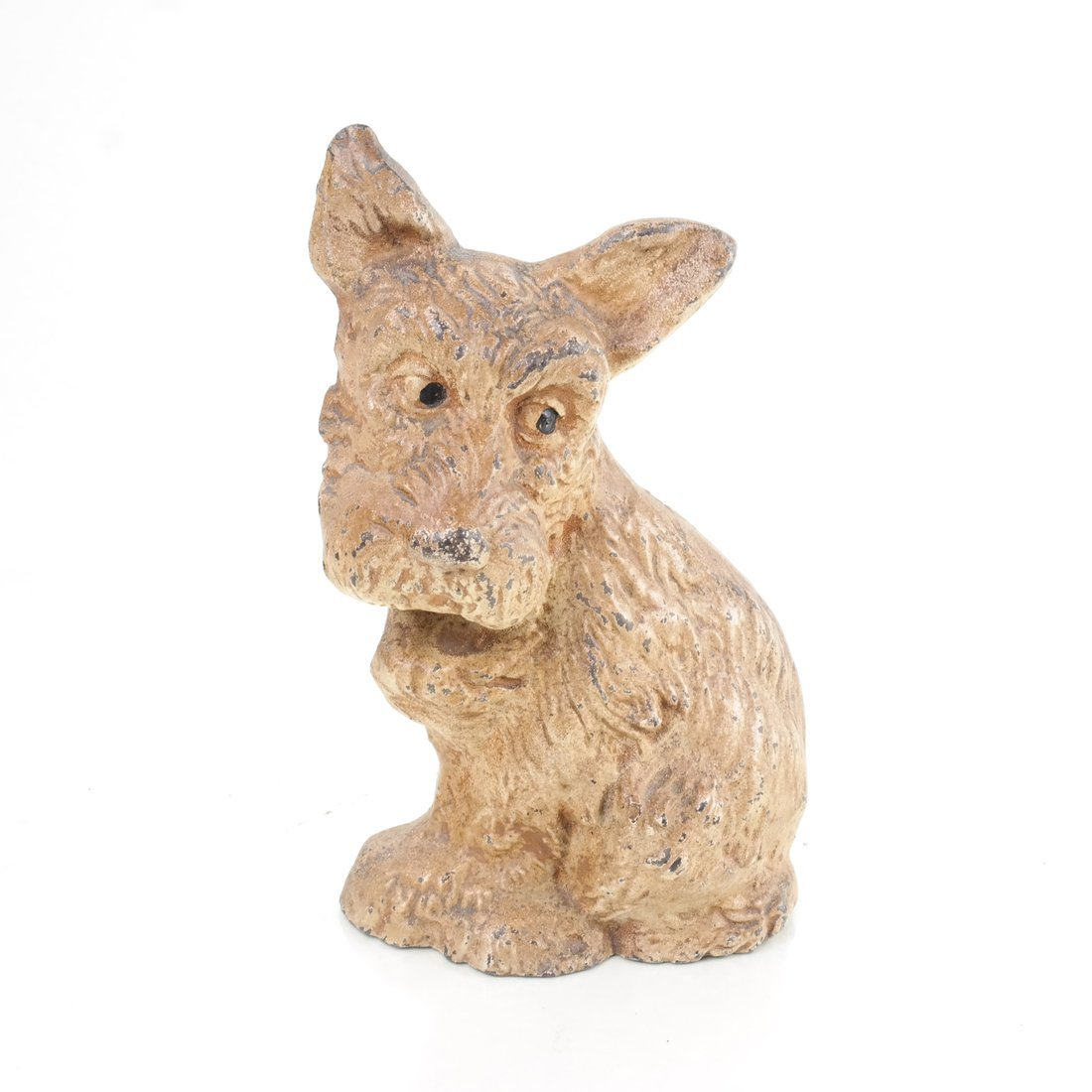 Two Painted Cast Iron Seated Dogs - 7
