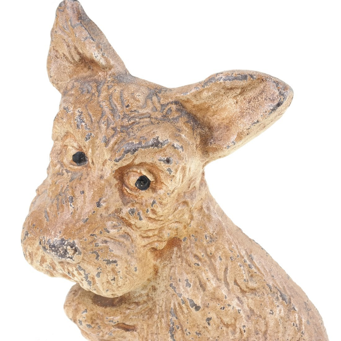 Two Painted Cast Iron Seated Dogs - 8