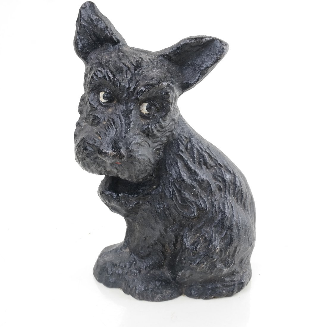 Two Painted Cast Iron Seated Dogs - 9