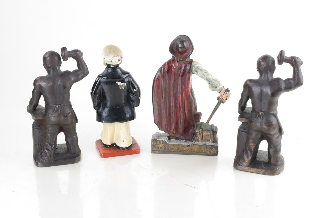 Four Cast Iron Figural Bookends - 2
