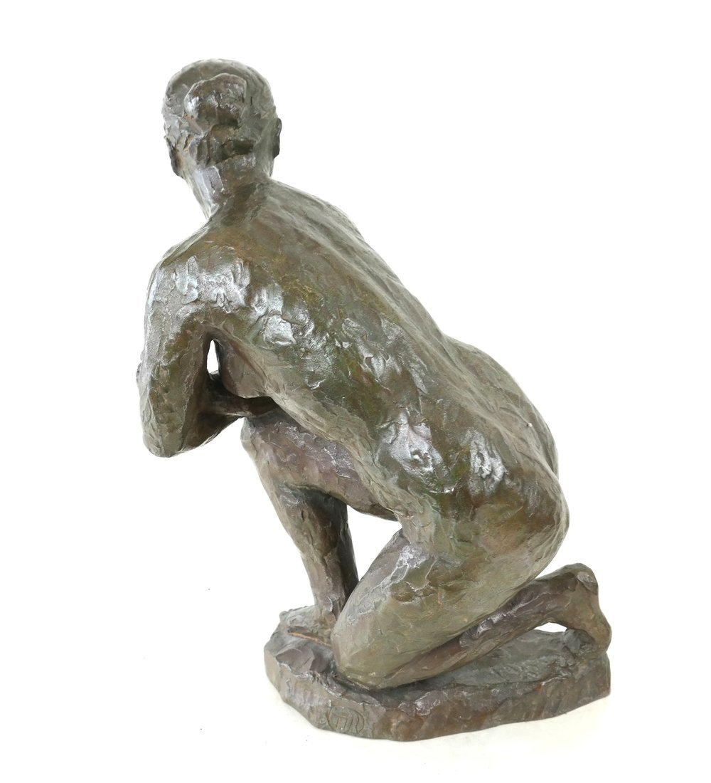 Bronze Kneeling Female Nude - 2