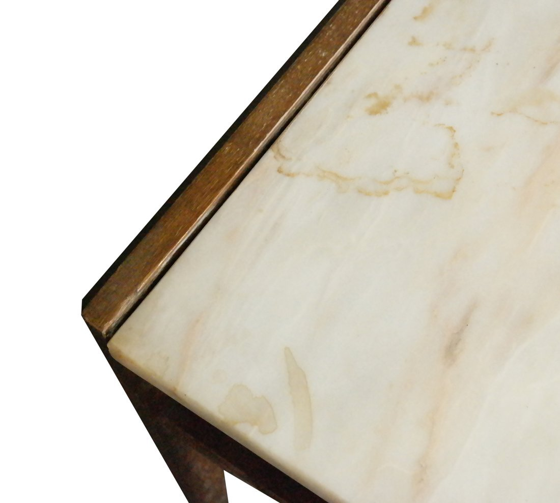 Modern Marble Inset Coffee Table - 4