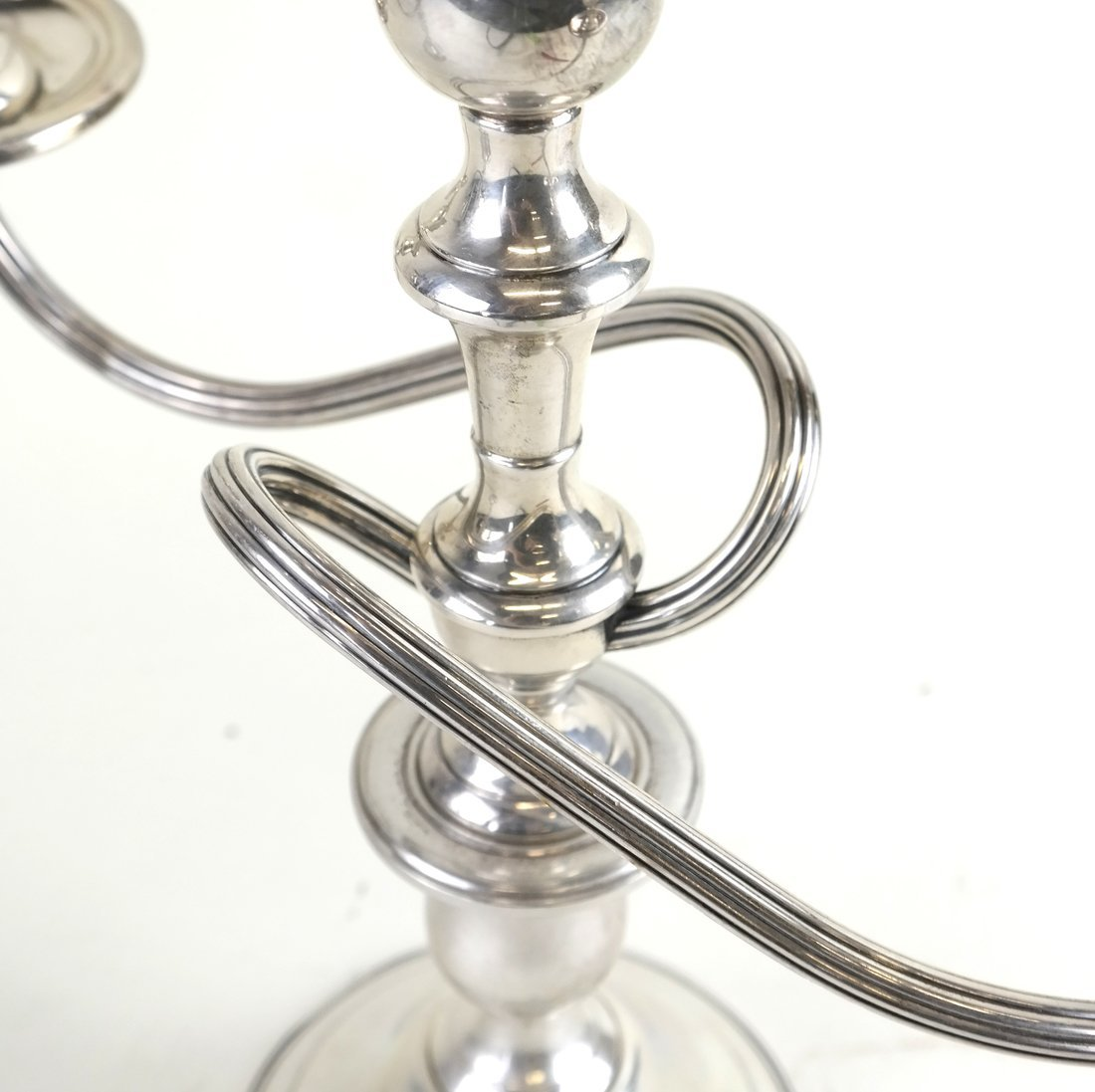 Pair of Weighted Silver Candelabra - 5