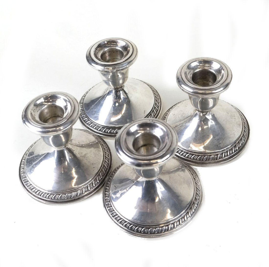 Six Weighted Sterling Candlesticks - 2