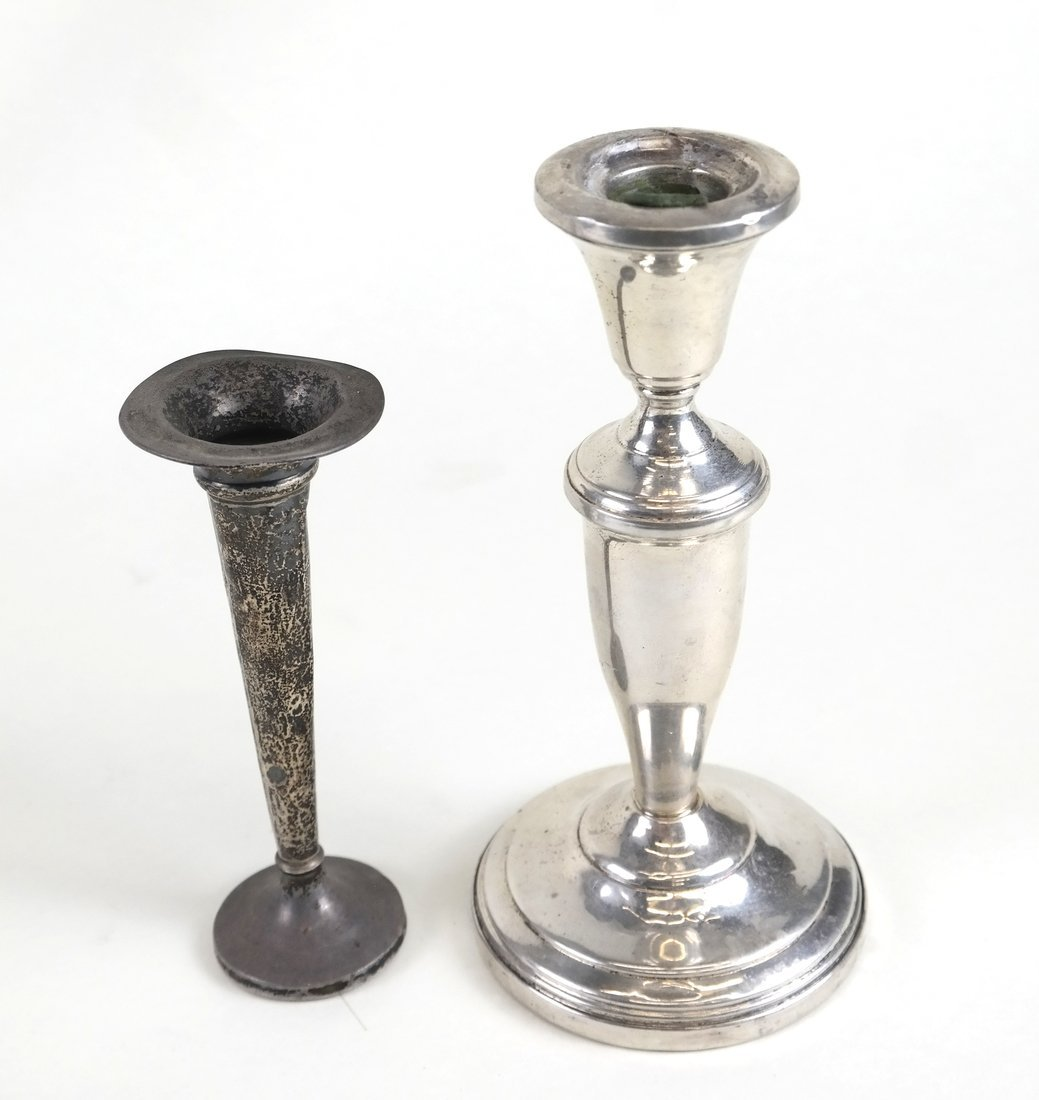 Six Weighted Sterling Candlesticks - 3
