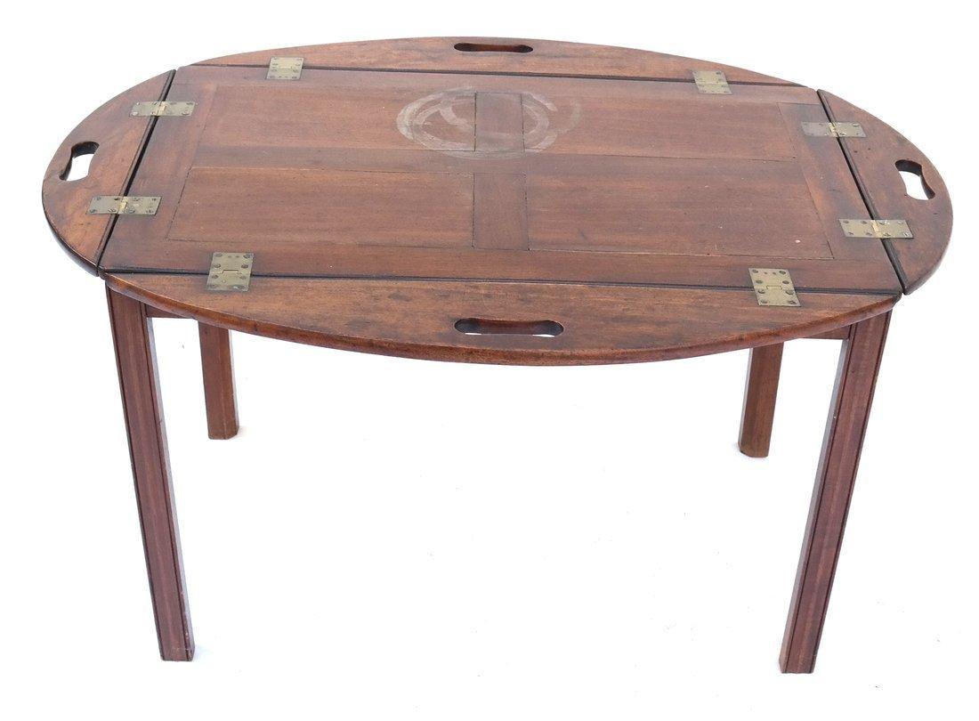 English-Style Mahogany Butler's Table - 2