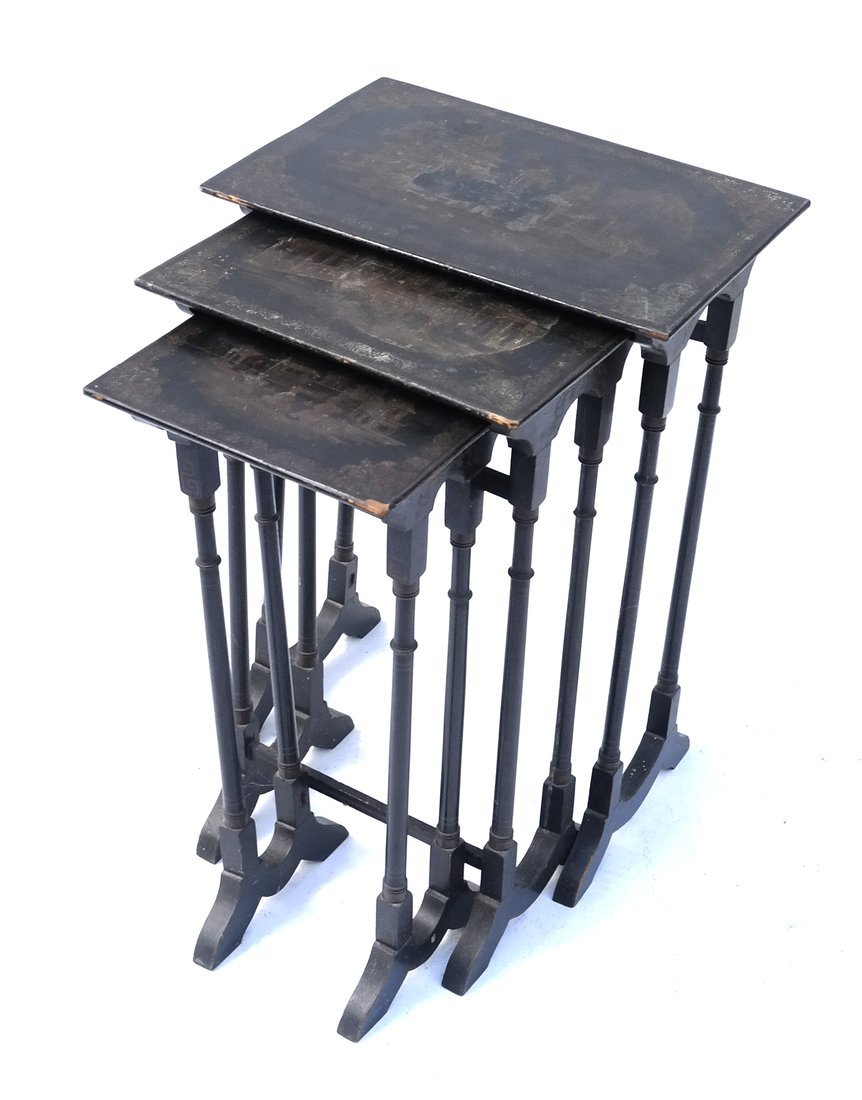 Chinoiserie-Style Nesting Tables