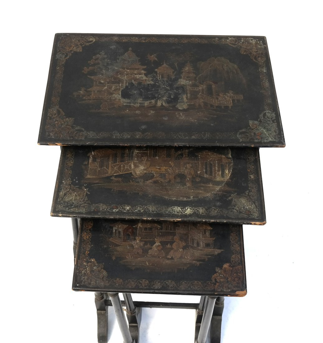Chinoiserie-Style Nesting Tables - 2