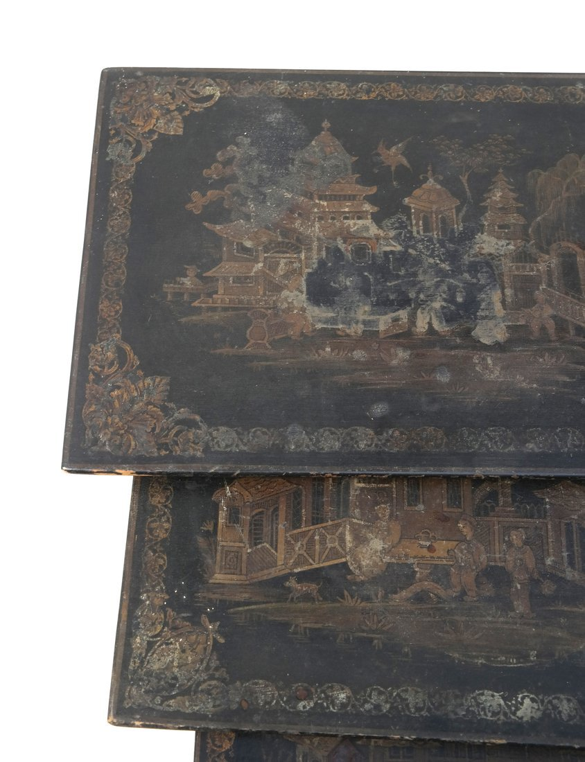 Chinoiserie-Style Nesting Tables - 3