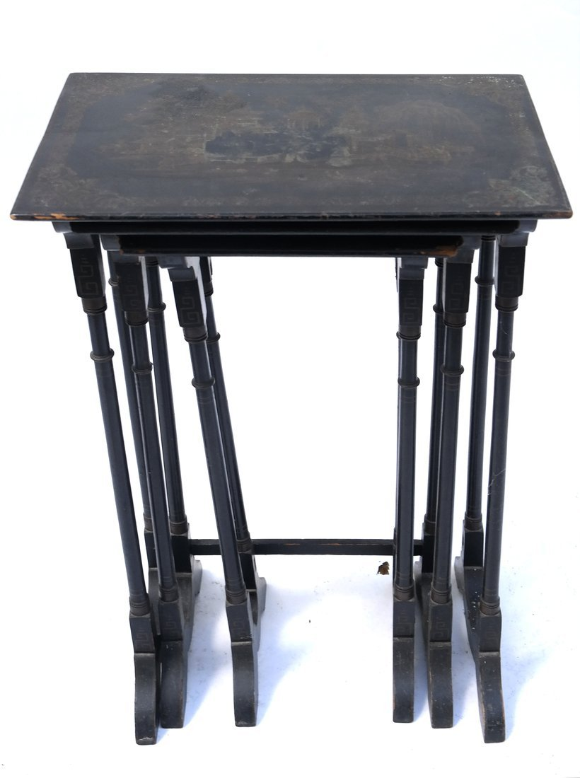 Chinoiserie-Style Nesting Tables - 5