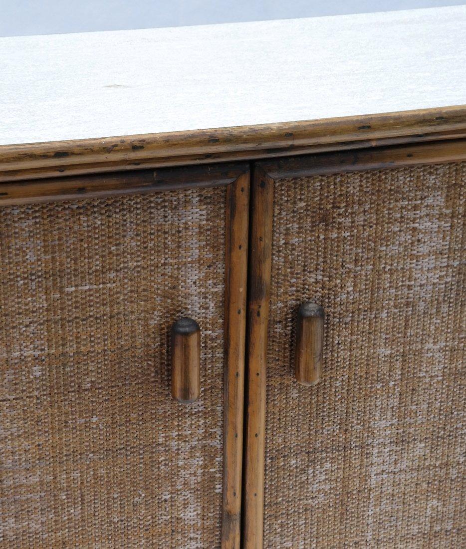 Vintage Bamboo Two-Door Cabinet - 2
