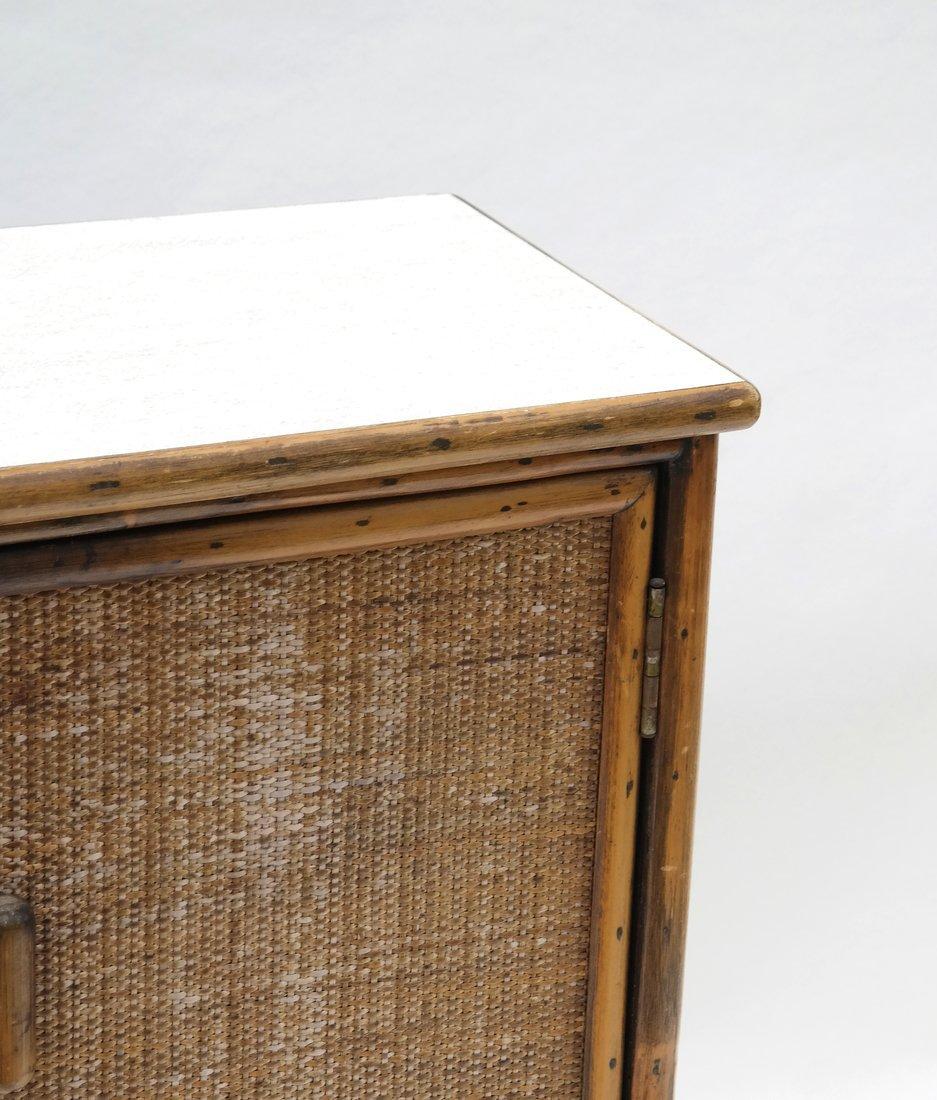 Vintage Bamboo Two-Door Cabinet - 3