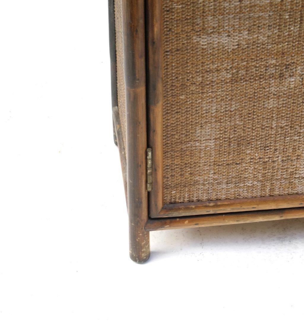 Vintage Bamboo Two-Door Cabinet - 4