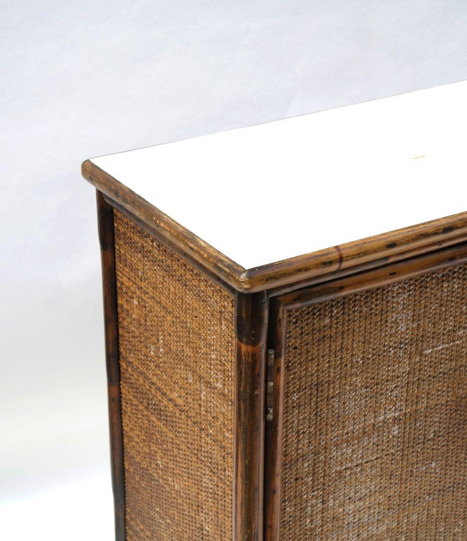 Vintage Bamboo Two-Door Cabinet - 5