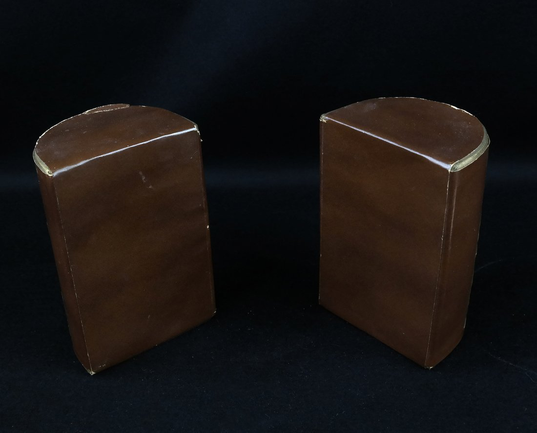 Pair of Bookends, Glass Inkwell - 6