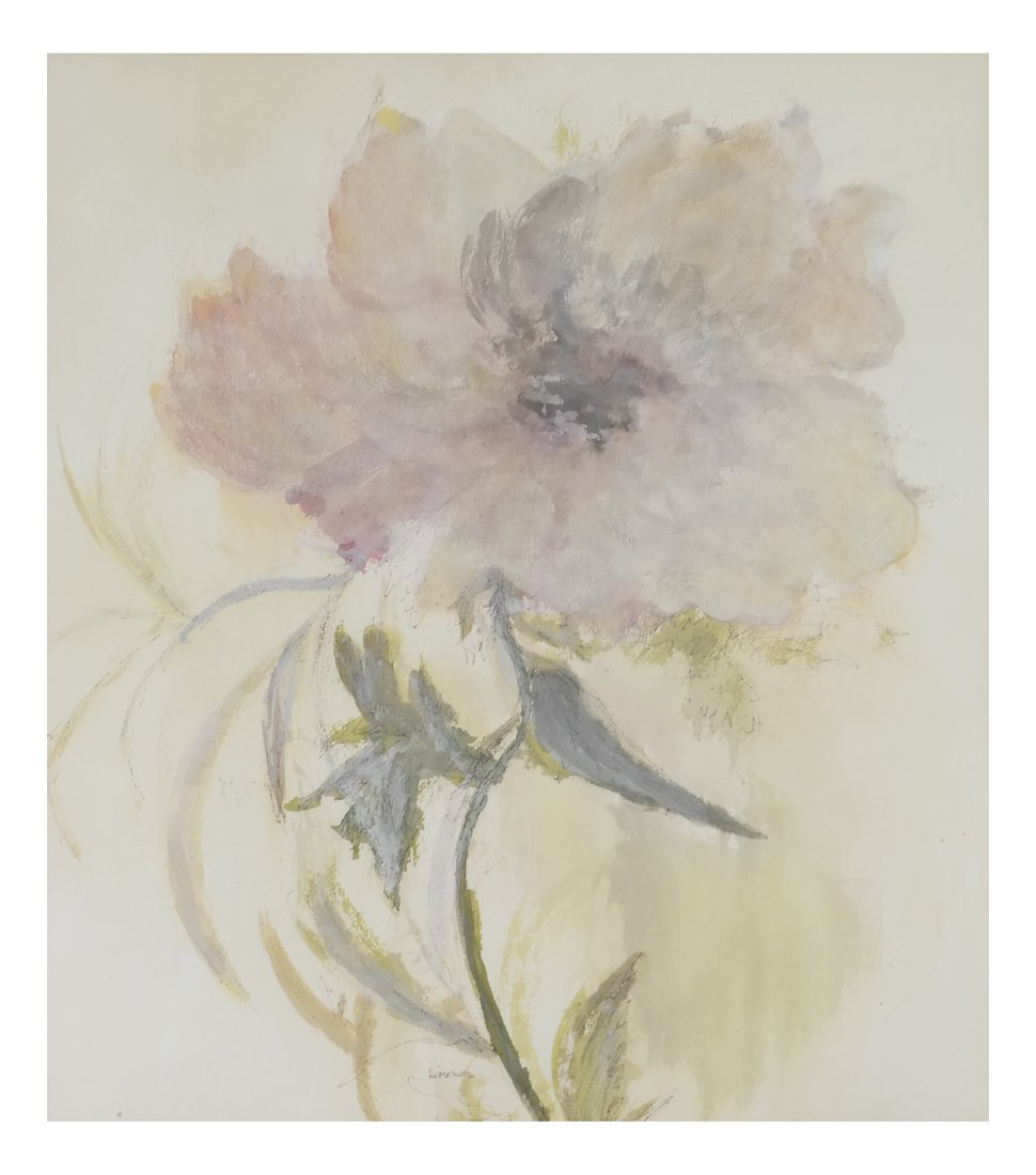 "Phyllis Lifschutz, ""Blossom"", Watercolor"