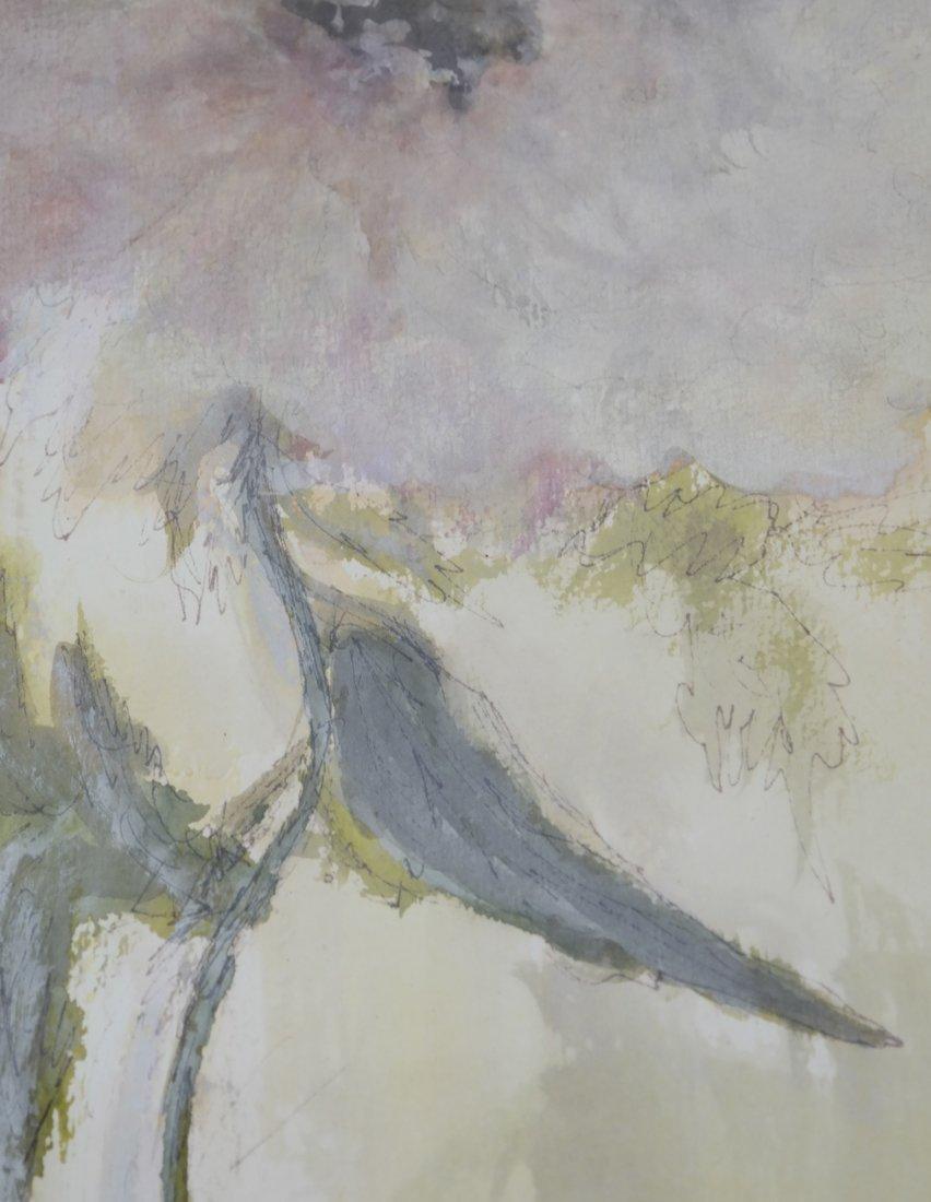 "Phyllis Lifschutz, ""Blossom"", Watercolor - 5"