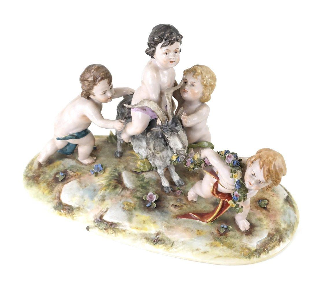 Dresden-Style Porcelain Figural Group