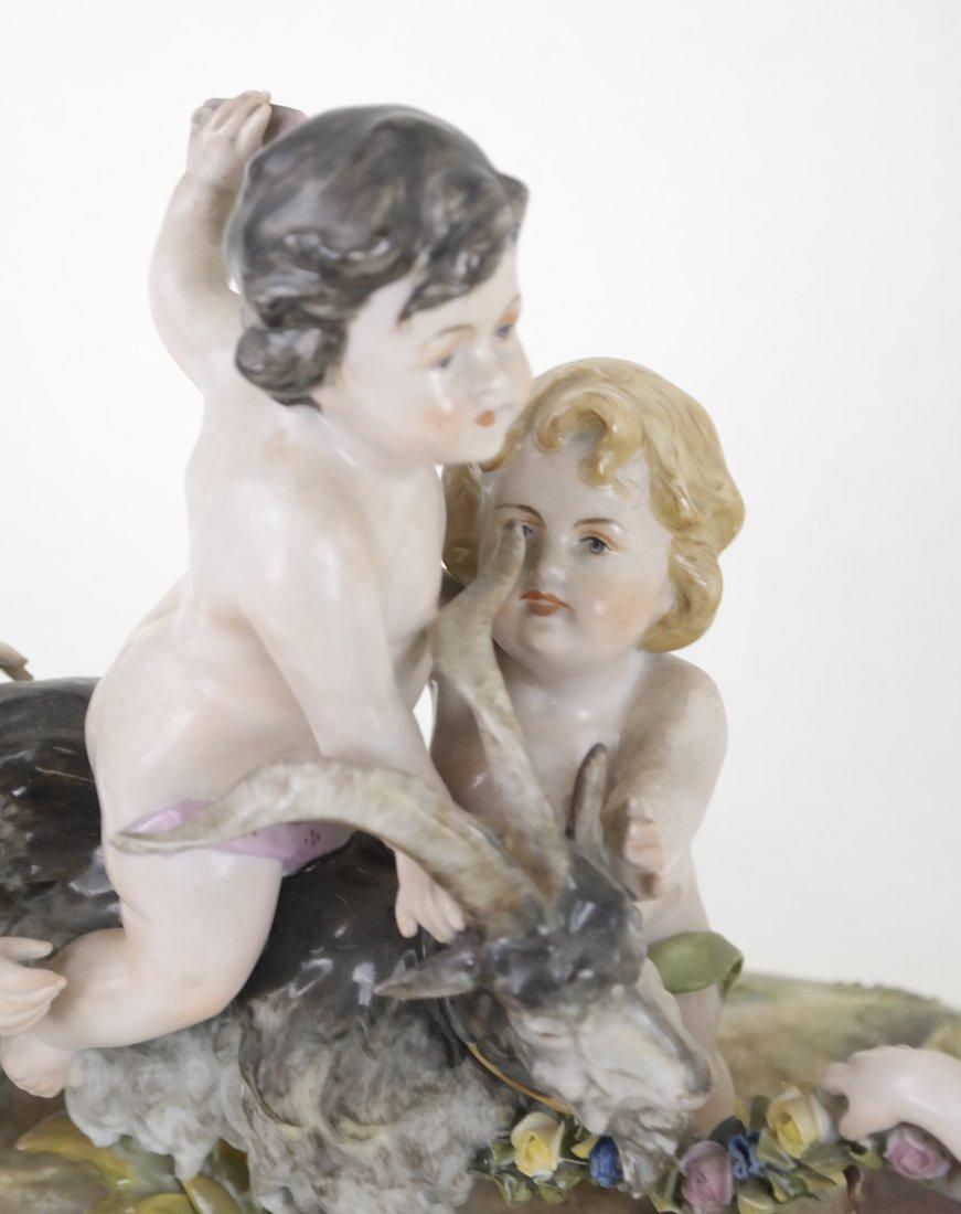 Dresden-Style Porcelain Figural Group - 3