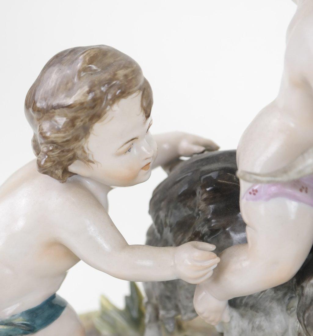 Dresden-Style Porcelain Figural Group - 5