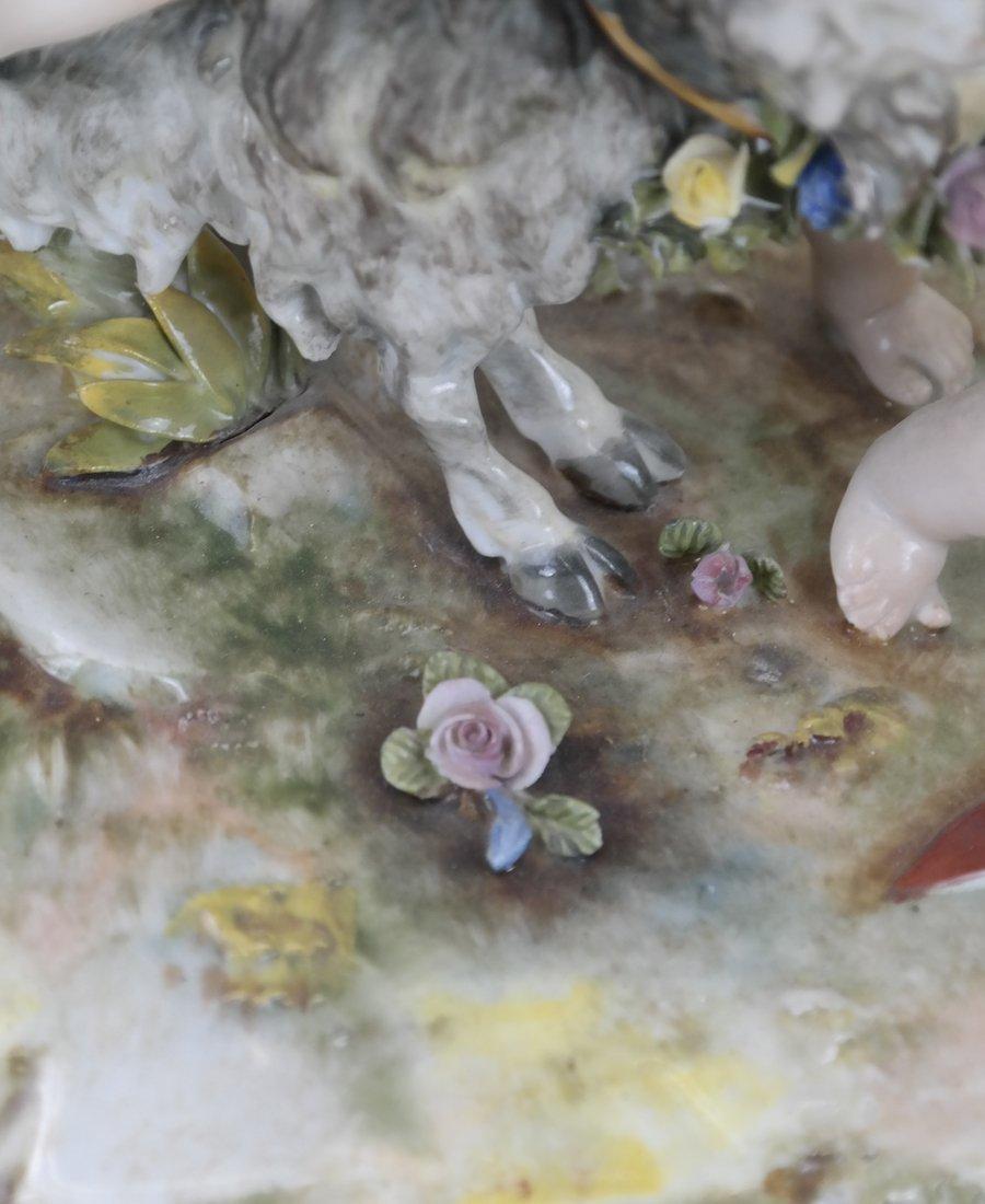 Dresden-Style Porcelain Figural Group - 6