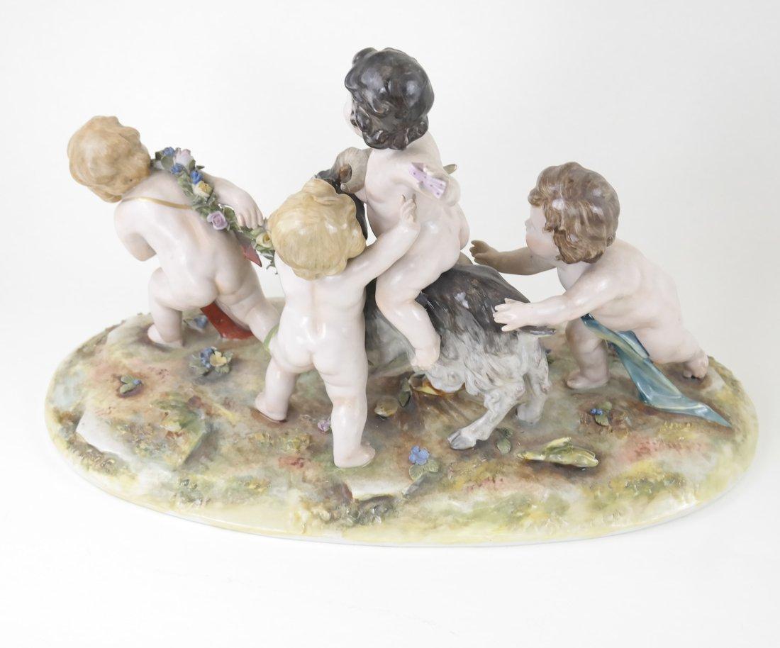 Dresden-Style Porcelain Figural Group - 8
