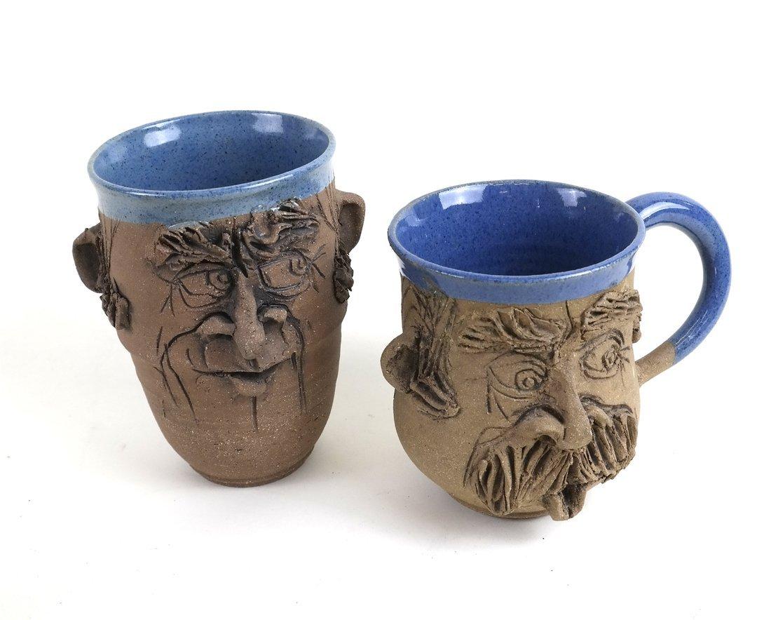"Four Pieces ""DLD"" Stoneware Pottery - 2"