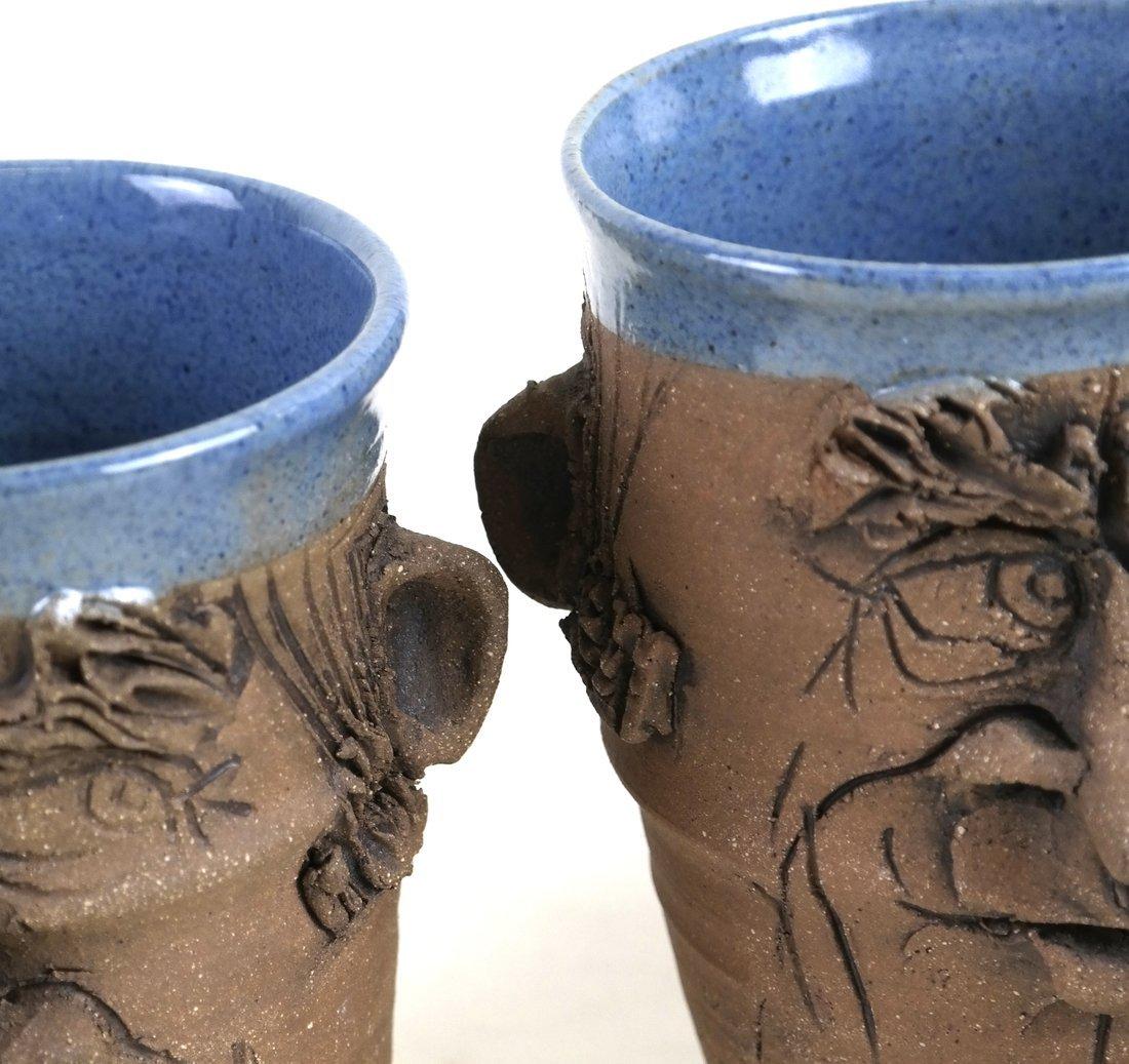"Four Pieces ""DLD"" Stoneware Pottery - 7"