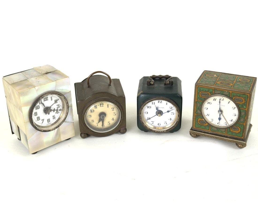 Four Miniature Clocks