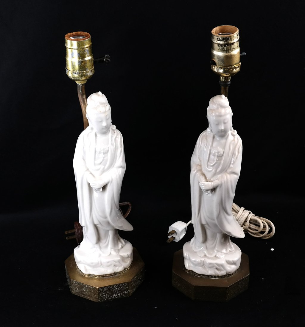 Two Blanc de Chine Lamps