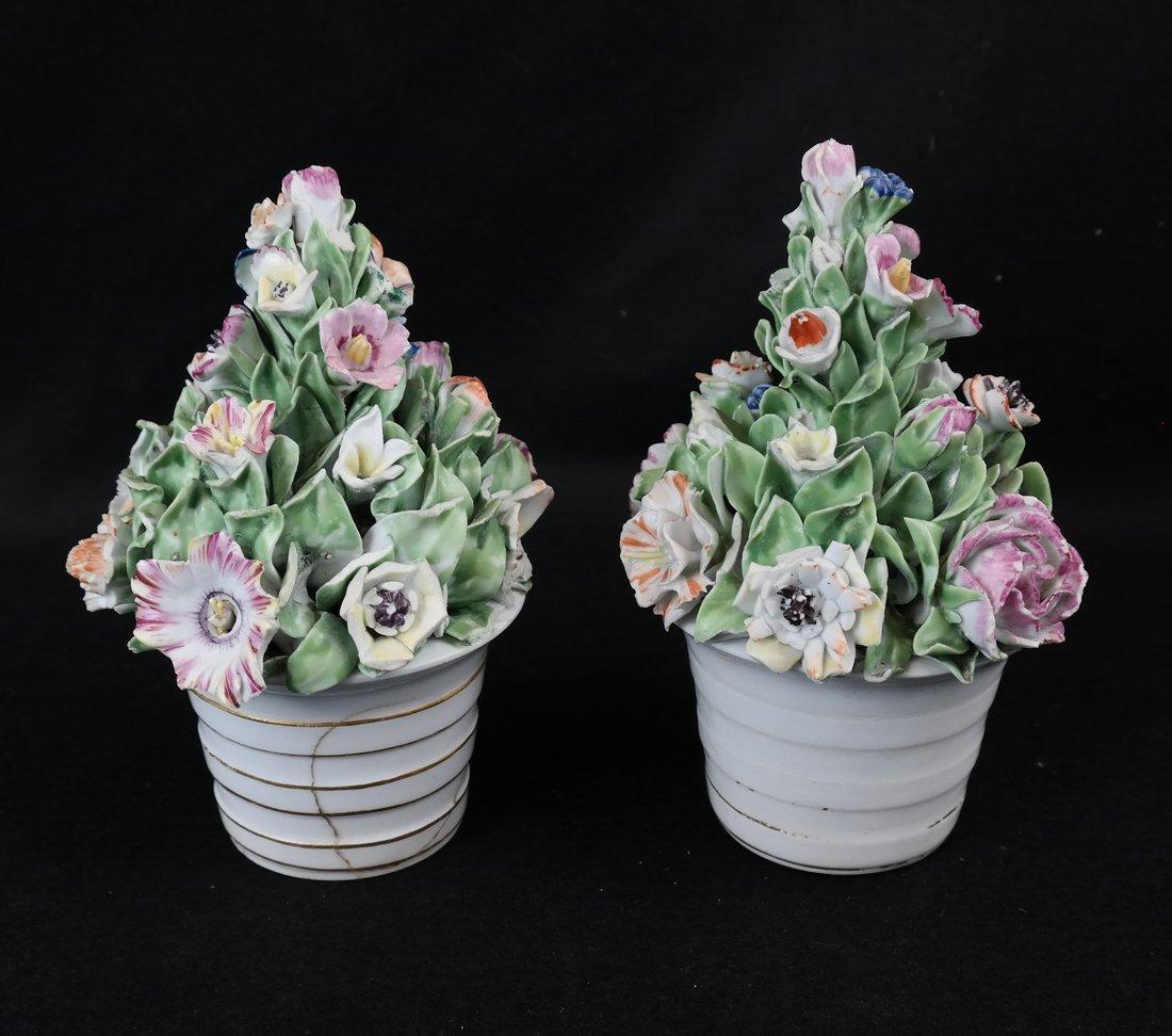 Pair of Crown Derby Flower Cachepots
