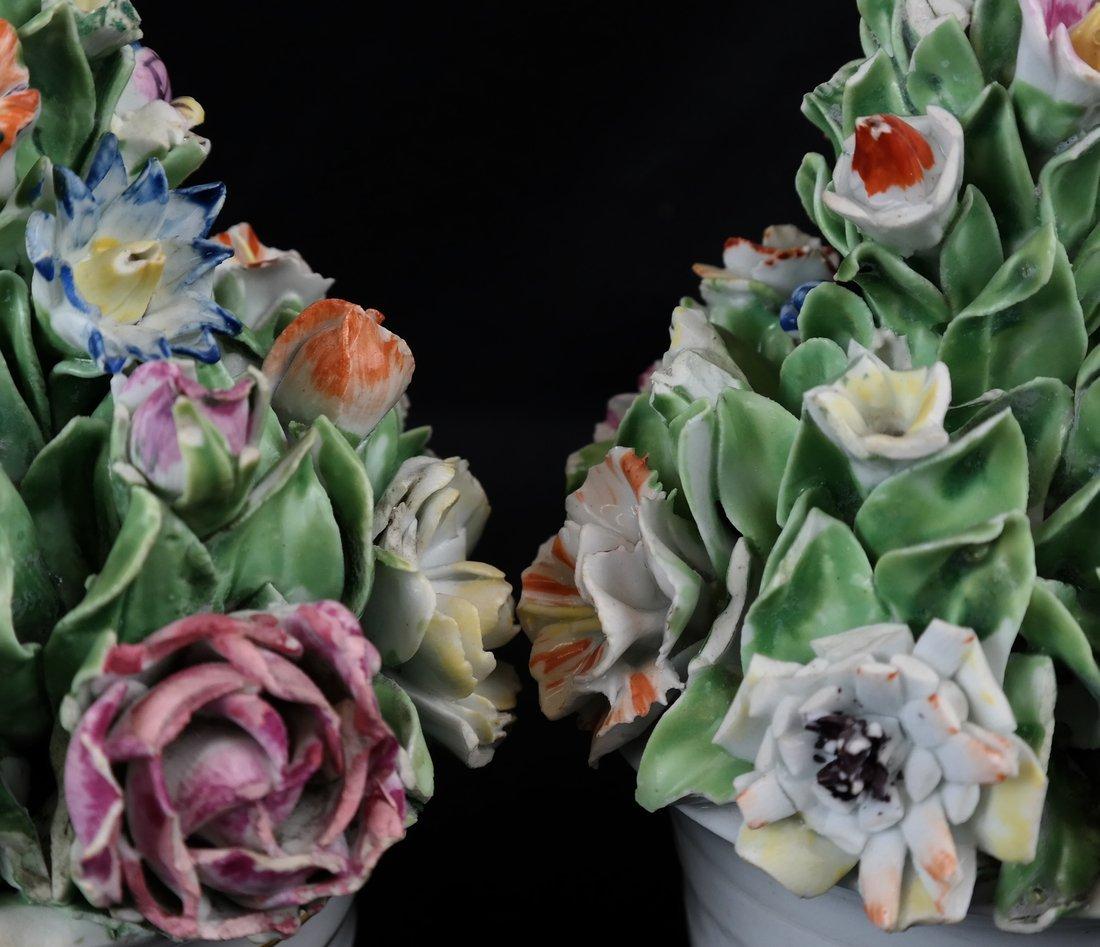 Pair of Crown Derby Flower Cachepots - 5
