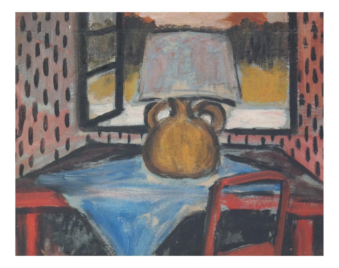 Table Still Life, Oil on Board