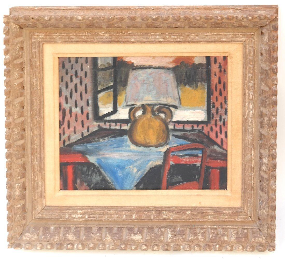 Table Still Life, Oil on Board - 2