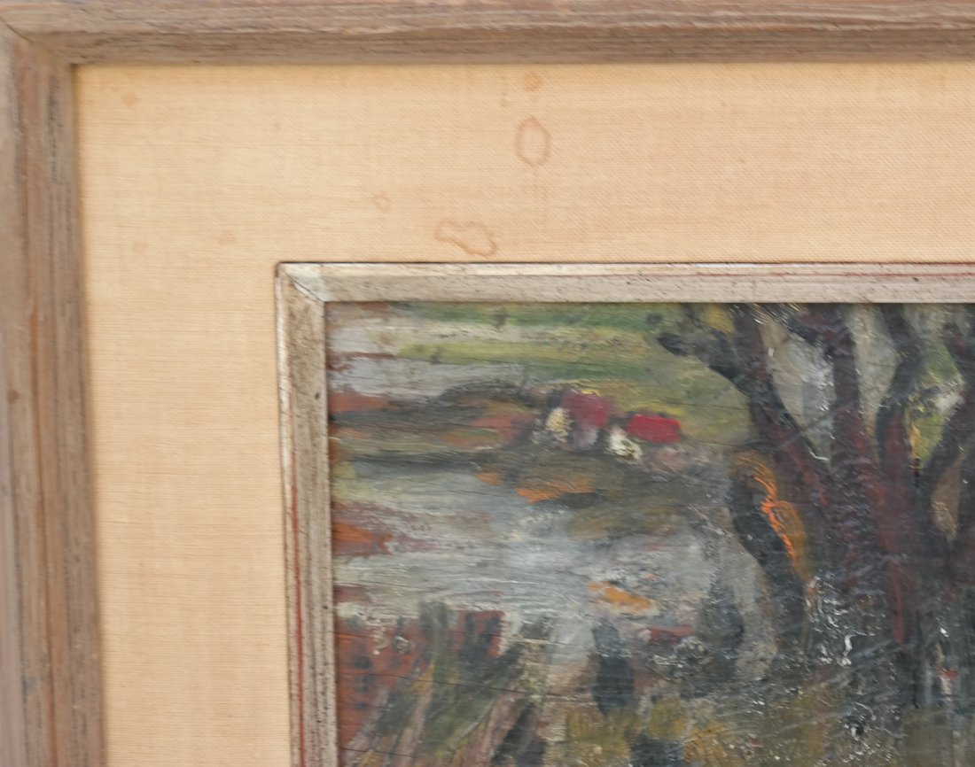Framed Landscape, Oil on Board - 4