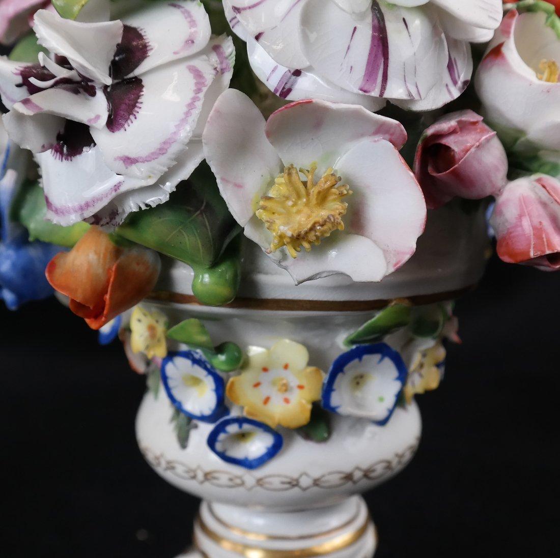 Pair of Crown Derby Floral Urns - 5