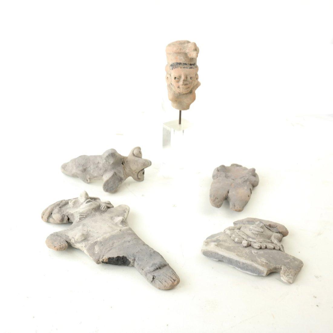 Five Antique Terra-cotta Items