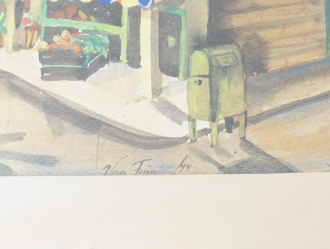 V. Finn, Village Scene, Watercolor - 3