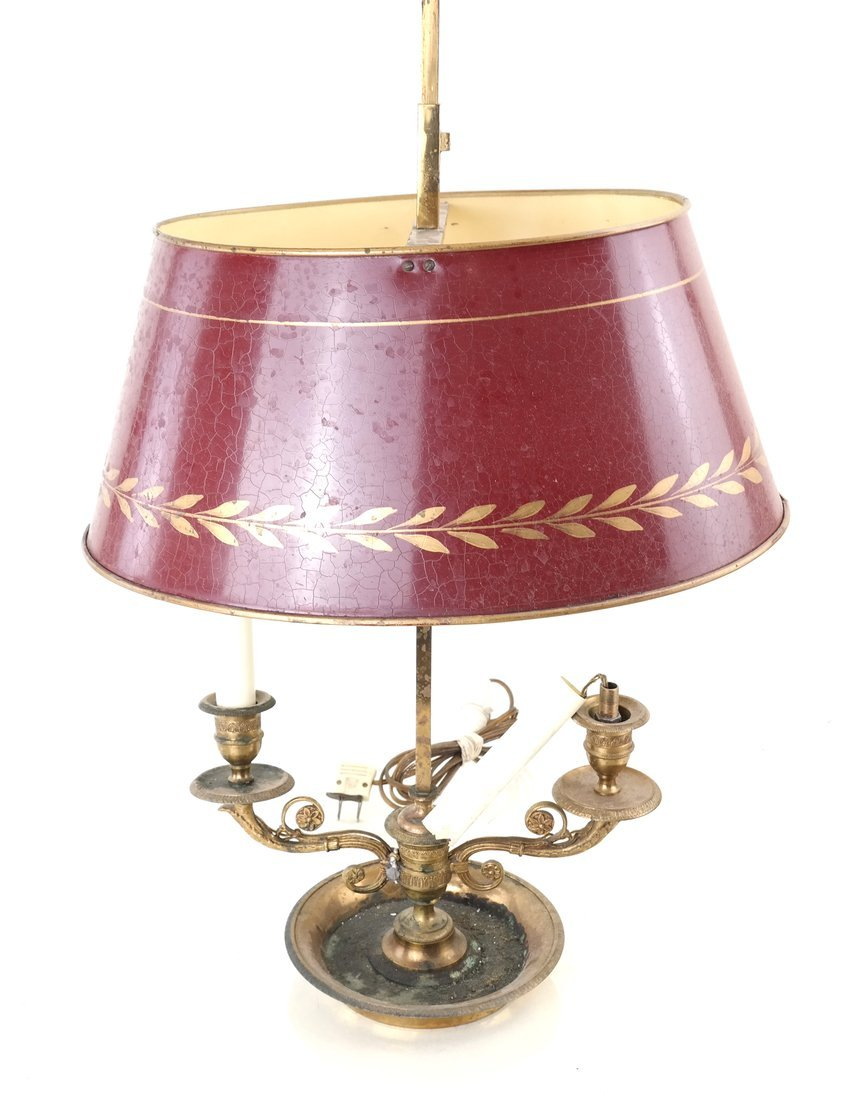 Early 20th C. Bouillotte Lamp