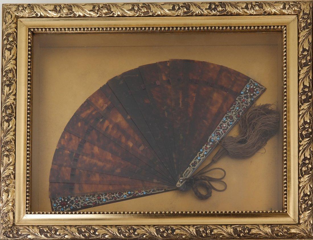 Fan Displayed in a Shadow Box
