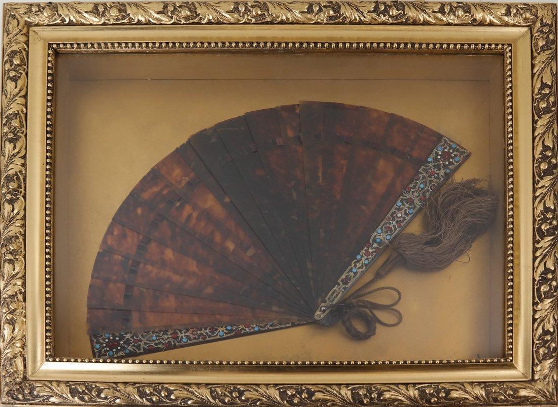 Fan Displayed in a Shadow Box - 4