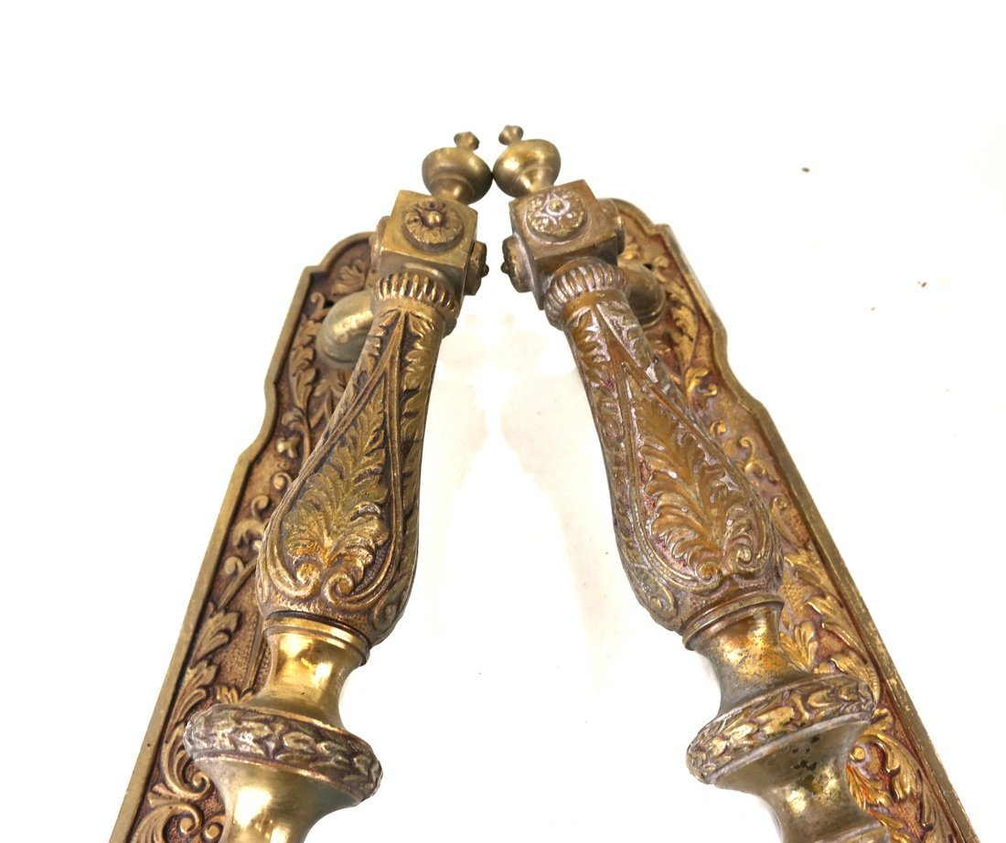 Two Ornate Bronze Handles - 2