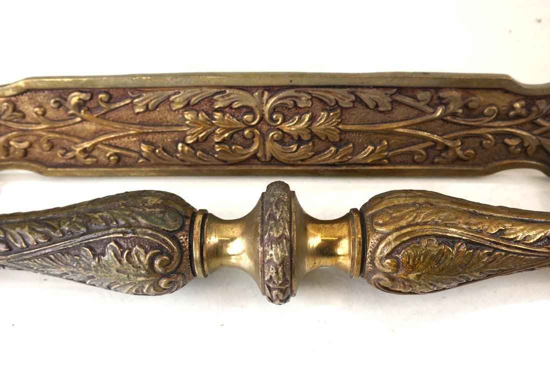 Two Ornate Bronze Handles - 5