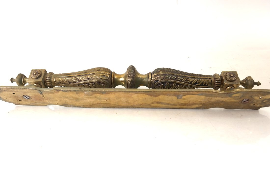 Two Ornate Bronze Handles - 6