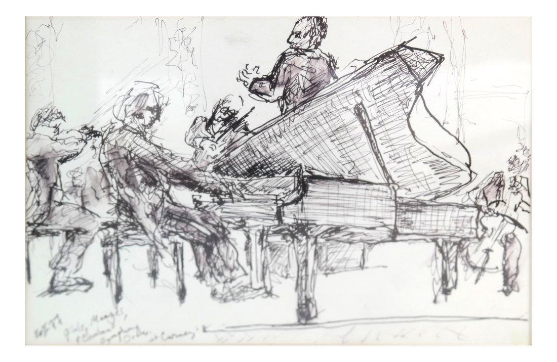Musicians, Watercolor