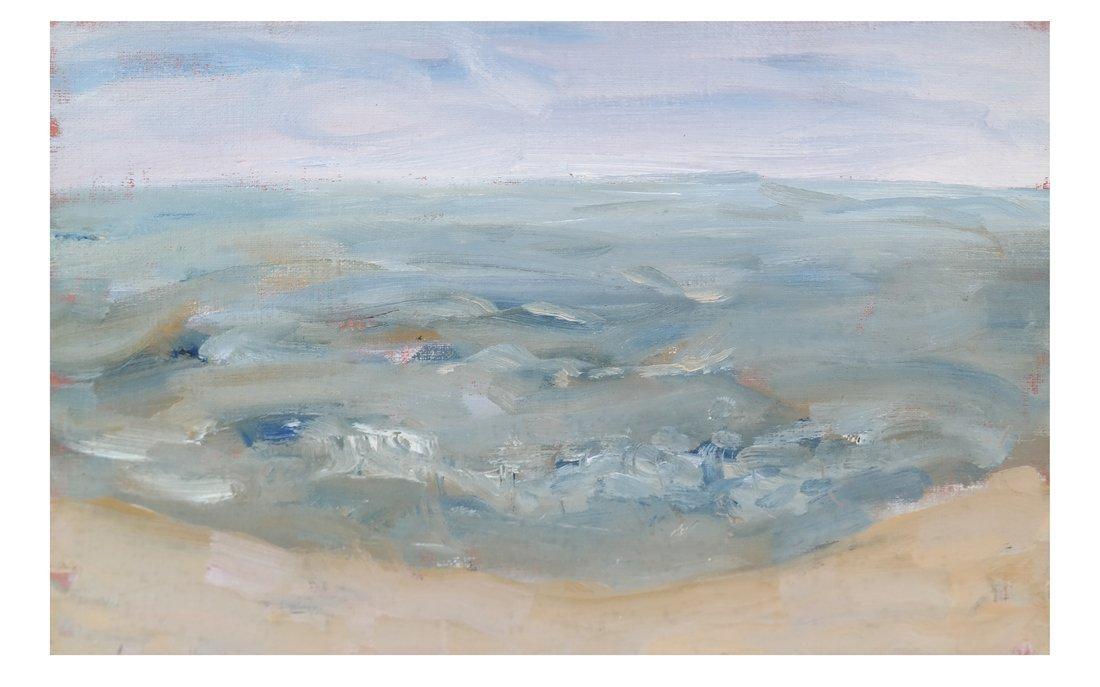 Coastal Scene, Oil On Canvas