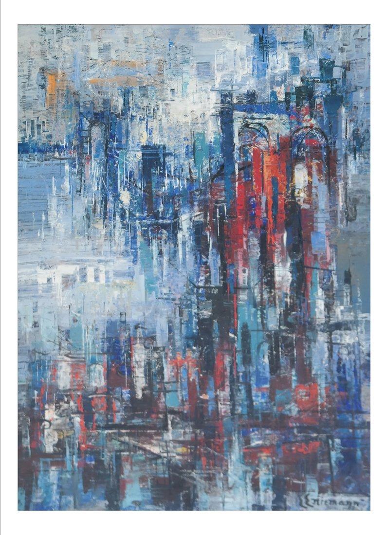 E.E. Niemann, Cityscape, O/Board